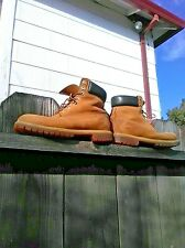 Timberland Boots Men's Size 10/10.5 Work Wheat Tan Beige Suede Durabuck Leather