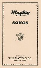 Maytag Song Book Dealer Engine Washer Hit & Miss