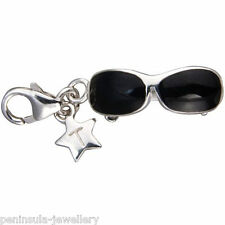 Tingle Sunglasses Sterling Silver Clip on Charm with Gift Bag and Box