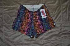 Soffe Womens Shorts XS Multi Color Leopard/Cheeta/Zebra Print NWT