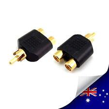 1 x RCA AV Y Splitter Plug Adapter 1 Male to 2 Female (N059B)