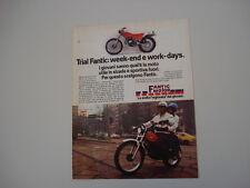 advertising Pubblicità 1978 MOTO FANTIC TX-250 TRIAL 125 cc