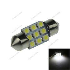 1X White 31MM 9 3528 Festoon Dome Interior LED Light Lamp Bulb DE3425 I024