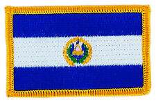 FLAG PATCH PATCHES EL SALVADOR  COUNTRY  IRON ON EMBROIDERED SMALL
