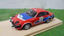 TRIUMPH TR7 V8 RALLYE MANX DE 1978 rouge #5 au 1/43 voiture miniature collection