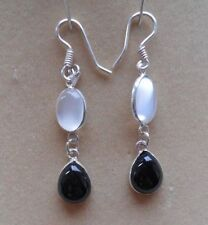 Onyx Cabochon Natural Fine Gemstone Earrings