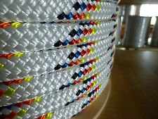 """1/2"""" x 100 ft. Double Braid~Yacht Braid Polyester rope.Made in the USA."""