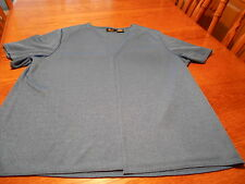 Kathie Lee Woman 26W/28W blue Blouse One piece jacketed short sleeve blouse