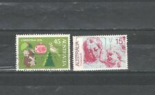 R2730 - AUSTRALIA 1976 - SERIE COMPLETA NATALE N°602/3 - VEDI FOTO