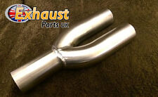 "Exhaust Y Piece 2 into 1 Divider 70mm 2.75"" Stainless Steel Bike Kit Collector"