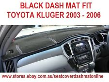 DASH MAT, BLACK DASHMAT, DASHBOARD COVER FIT TOYOTA KLUGER 2003-2006,  BLACK