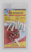 Elematic cf 10 pz tasselli Driva in nylon con vite per cartongesso Ø 3x25 mm