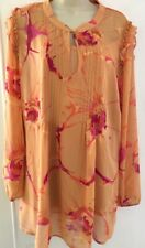 Ladies Plus Size 22 Top/Tunic with Camisole by Anna Scholz - Peach Printed