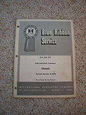 IH B275 Tractor Chassis Service Shop Manual International Harvester GSS1241