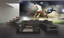 TWO FOOTBALL PLAYERS Wall Mural Photo Wallpaper GIANT DECOR Paper Poster