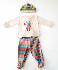Boboli - Baby Boy - Cream - Striped - Hat & Top & Bottoms Outfit - Age 6 Months