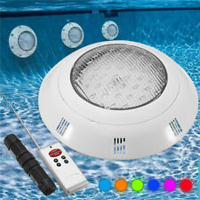 Swimming Pool Spa LED Light RGB 7 Retro Color With Remote Control Waterproof 18W