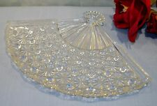 Vintage Crystal Fan Shaped Relish Dish