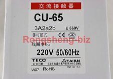 New TECO Contactor CU-65 220VAC