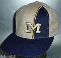 AMERICAN NEEDLE Vintage Snapback Cap NCAA Michigan Wolverines 90s NOS NEW