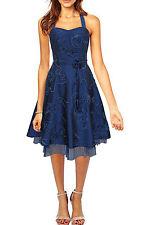 Polyester Halter Neck Regular Size Dresses Midi