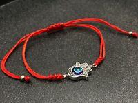 Hamsa Hand Red Cord KABBALLHA lucky Blue Evil Eye Kabbalah Bracelet Adjustable