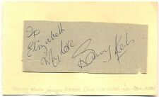 Barry Kent signed autograph book page 1970s British Singer/Actor Camelot Musical