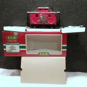MINT IN BOX NEW NEVER USED GERMANY LGB LEHMANN G-Scale Christmas Caboose # 44650