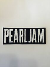 Pearl Jam Black and White Embroidered Patch Iron on or Sew on