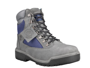 Timberland Men 6 Inch Field Boots Size US 8M Dark Grey Forged Iron Blue TB0A1RF5