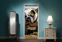 Door Mural Bull Dog View Wall Stickers Decal Wallpaper 276
