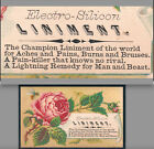 Electro-Silicon Horse Cure Quack Liniment Man and Beast Bee Victorian Trade Card