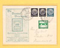 1937 Nationale Ausstellung Ganzsache mit Nachfrankatur  / Ihr Preisvorschlag !