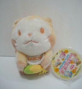Rascal the Raccoon Orange Color Pastel Banpresto 1994 Plush TAG Toy Doll Japan