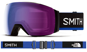 NEW Smith IO I/O Mag XL Goggles-The North Face Blue-Photochromic Flash+Clear