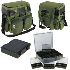 NGT CARP FISHING SEAT BOX SYSTEM, HARNESS RUCKSACK, SIDE TRAY + TACKLE BOX