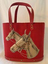 Vintage Horse Equestrian Purse Preppy Kentucky Derby RED - Paris, Kentucky