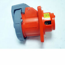HUBBELL 460R12W WATERTIGHT ORANGE RECEPTACLE  60A 125/250VAC  3 POLE, 4 WIRE