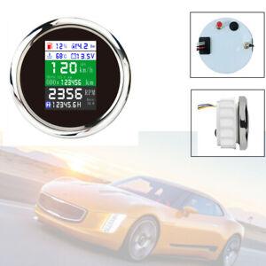 "85mm /3.35""Multifunction Gauge Car Boat GPS Odometer Speedometer Tacho Oil Temp"