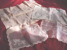 Vintage Lace Table Scarf Doily Lot 6 Asst Shadow Applique