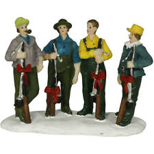 HOLIDAY TIME CHRISTMAS VILLAGE HOUSE ACCESSORIES - 4 GUYS WITH FISHING POLES