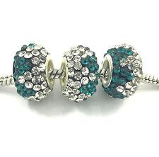 2pcs Gorgeous Czech Crystal Round Bead European Charm Fit Necklace Bracelet NEW