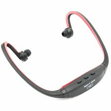 Sport Jogging MP3 Musik Player Spieler Headset mit TF SD Slot USB [Rot]