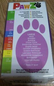 PawZ Rubber Dog Boots Waterproof Disposable Reusable 12 PK Large Purple