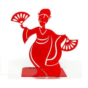 Metal Bookend Red Geisha Handmade Design Modern Steel Home Decor FREE SHIPPING