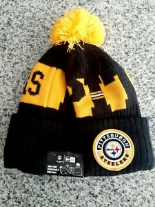 NEW ERA Pittsburgh Steelers OnField Sport Knit Lined Mens Beanie Hat-OSFM NWT