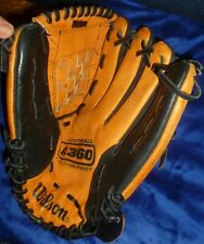 "WILSON A360 SOFTBALL GLOVE 13"" Tan/Black LEATHER, Oversize Pocket, Baseball Mitt"