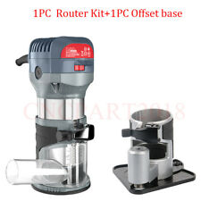 Router Edge Compact Kit Variable Speed 10000~32000rpm Wood Trimming Offset Base