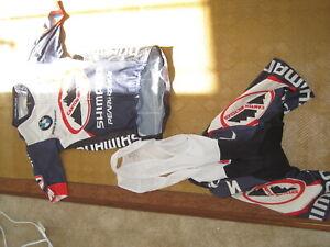Pearl Izumi pro jersey and bib kit set arm warmers men X small. good condition.