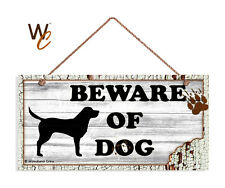 Beware of Dog Sign, White Rustic Decor, Lab Dog Sign, 5x10 Rustic Wood Dog Sign